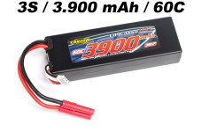 500608186 Carson LiPo pack 3900mAh 11,1V, 3S/1P, 60C