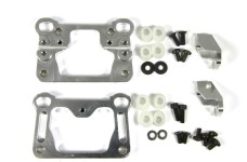 y1079 HT Aluminum front bulkhead A + B + droop stops for 2WD