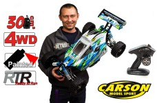 500304031 Carson 1:5 Dirt Attack GP 2.0, 30 ccm Motor mit Resonanzrohr, 2.4 GHz 4WD, RTR