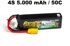 50004 Bashing Series 5000mAh 14.8V 4S1P 50C Lipo Battery wit