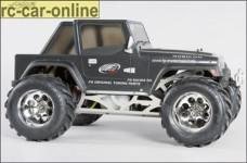 40150, FG Monster Jeep Karosse, glasklar, unlackiert, fü