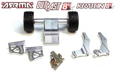 AKX040 GPM Aluminum wheelie bar with wing mount for Arrma Kraton / Outcast 8S