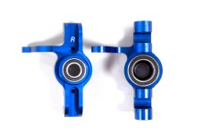LOSB2091 Losi Alloy Front Spindle Set, Blue, 5ive-T, TLR 5iv