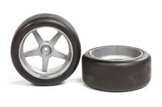 6417/08 Slick-Reifen S1 63mm für 1:6 Modelle verklebt -