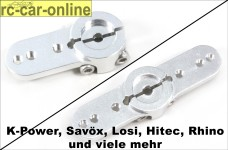 Split Alu-Servoarm für K-Power, Savöx, Spektrum, R