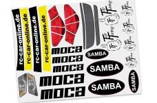 y1584 Samba Moca car specific decal