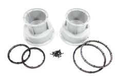 LOS45013 Losi Felge Silber und schwarze Bead Lock Ringe MTXL