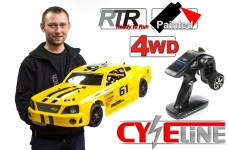 Carson 1/5 CY-Eline 4WD Ford Mustang yellow 6S Electric, RTR
