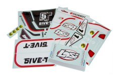 LOSB 8255 5IVE Sticker & Graphic Sheet Set black/white 5