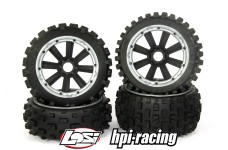 y1407/01 MadMax CROSS BOND 170x80/x60 tires for HPI + Losi (