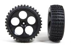 60215/06 FG Off-Road Buggy Reifen M schmal verklebt, schwarz