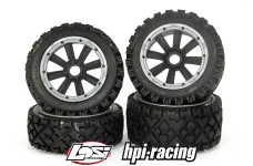 y1408/01 MadMax OVER LANDER 170x80/x60 tires for HPI + Losi