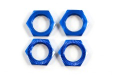 LOSB3227 Losi Wheel Nuts, Blue Anodized 5T and Mini