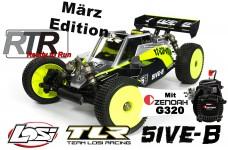 Losi TLR 5ive-B 1:5 4WD Buggy Race Kit März-Edition RTR mit 320er Zenoah Angebot 03/19