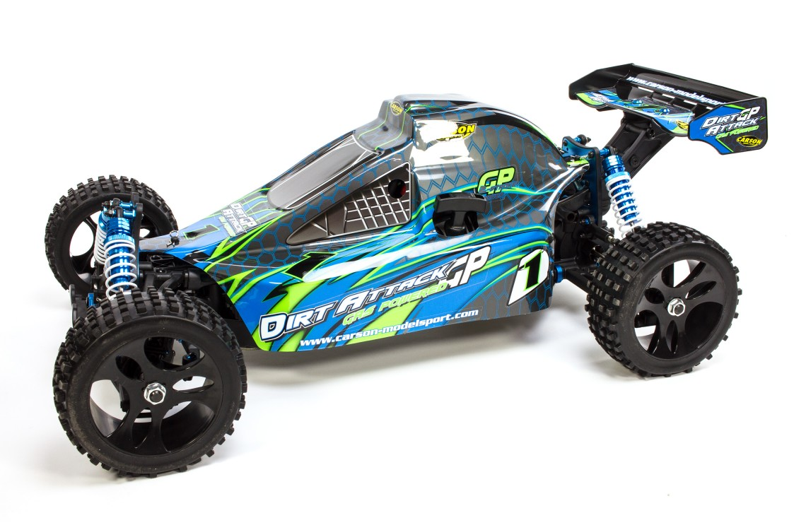 500304030 Carson 1:5 Dirt Attack GP 2.0, 30 ccm Motor, 2.4 GHz 4WD ...