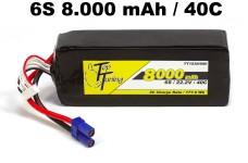 TT1530/680 Top Tuning 8000 mAh LiPo Akku 6S, 22,2V 40C