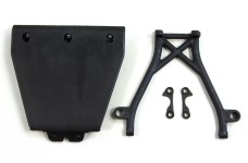 LOSB2574 Losi Front Skid Plate,Bumper Brace & Spacers 5T
