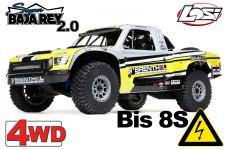 LOS05021T1 Losi 1:6 Super Baja Rey 2.0 4WD Brushless Desert