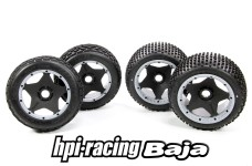 y1488 Original HPI Baja standard tires with rims, inlays and