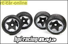 y1488 Original HPI Baja standard tires with rims, inlays and front/rear tyres