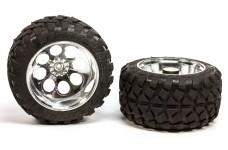 6230/07 FG Stadium-Truck tires M glued, chrome rims, 18 mm -