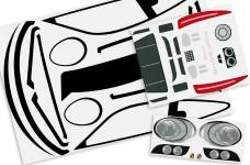 y3025 Porsche 911 Fahrzeug Dekorbogen für Radstand 530