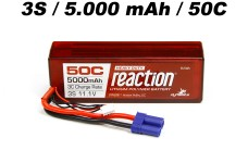 DYNB3811EC Dynamite Reaction 3S (11.1V) 5000mAh (50C) LiPo i