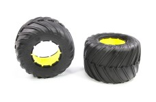 LOS45014 Monster Claw tire L/R with inserts MTXL