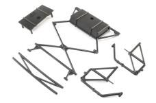 LOS251055 Losi Rear Body Mount Bar L&R, X-Bar, Super Baj