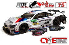 500409036 Carson 1/5 CY-Eline 4WD  BMW M4 Electric, complete RTR, with radio control, batteries and charger