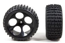 60210/06 FG Off-Road Buggy Reifen M breit verklebt, schwarz