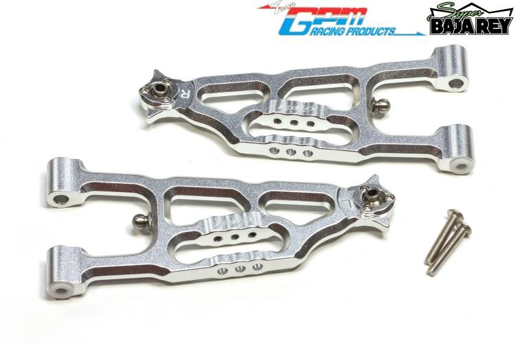 GPM SB055 Aluminum Front Lower Suspension Arms For Team Losi 1//6 Super Baja Rey