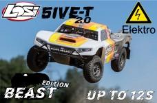 LOS05014T2/E Losi 5ive-T BEAST 2.0 Elektro 1/5 4WD SCT grau/
