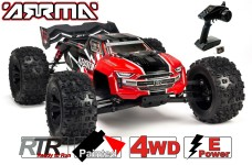 ARA106040T1 KRATON 1:8 4WD BLX Speed Monster Truck 6S mit Spektrum RTR, Rot