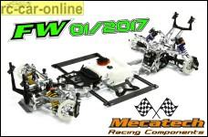 Mecatech FW01/2017 Basic Kit, Tourenwagen wheelbase 535 mm, the Europe- and world champion car