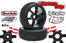 y0658 Narrow-Grip 462 type tires for Losi, HPI, FG, Carson a