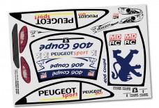 y0237/01 Peugeot 406 Dekorbogen