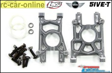 GPM LO5T038 center differential mounts for large bearings, fits Losi 5ive-T and Mini