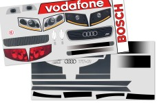 y1175 Audi TT Fahrzeug-Dekorbogen