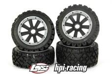 y1408/01 MadMax OVER LANDER 170x80/x60 tires for HPI + Losi