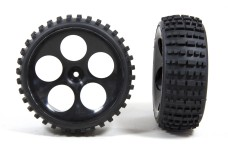 60214/06 FG Off-Road Buggy Reifen S schmal verklebt, schwarz