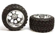 6231/07 FG Stadium-Truck tires S glued, chrome rims, 18 mm -