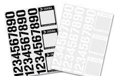 y3015 Dekra start numbers decal set