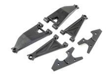 LOS254037 Losi Front Suspension ArmSet Upr/Lwr(L&R), Sup