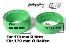 y1323 Molded tire inserts green for 170 mm Ø HPI + Lo