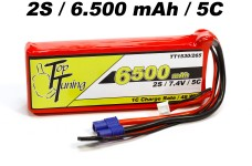 TT1530/265 Top Tuning 6500 mAh LiPo receiver battery 2S, 7,4
