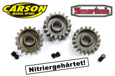 HT-Steel pinions for Carson / Smartech 2WD offroad cars