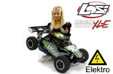LOS05012T1 Losi Desert Buggy XL-E 4WD Electric, black body shell