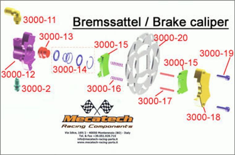 BRAKE LEVER 3000-10 Mecatech Expert Brake Lever BRAKE LEVER
