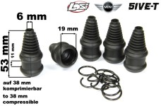 LOSB3222/01 Losi Center Coupler Boots and Clips for 5ive-T